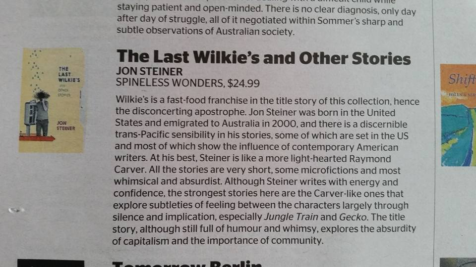 SMH review of The Last Wilkie's